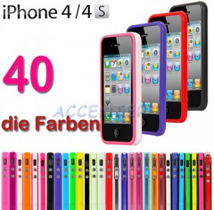 iphone 4s bicolor bumper, apple iphone 4 bumper, apple bumper, iphone bumper, farbige bumper