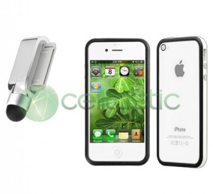 stylus iphone, stylus iphone 4 bumper, schutzfolie iphone 4s, bumper stylus schutzfolie iphone 4s