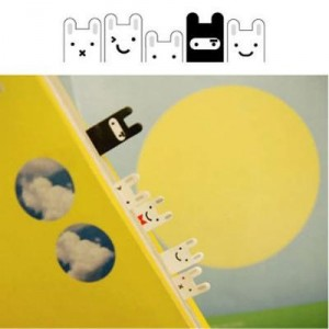 hasen sticky notes, rabbit memo, notizzettel, hasen sticker