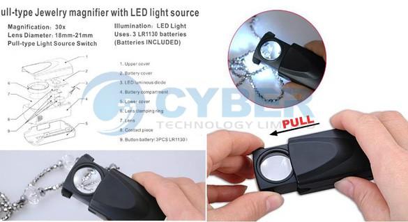 LED Lupe, 30 Fach Vergrößerung, China-Gadgets, günstig kaufen, Shop, Import Gadgetwelt, Tipps und Tricks