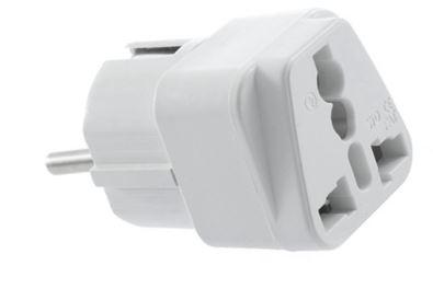 der universal adapter schuko f r die steckdose nur 88 cent inkl versand aus china. Black Bedroom Furniture Sets. Home Design Ideas