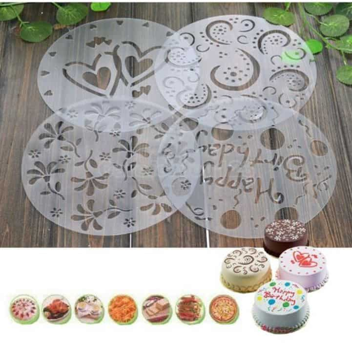Cake Decorating Accessories In Sri Lanka : Kuchen-Deko-Schablonen im 4er Pack!   Gadgetwelt.de