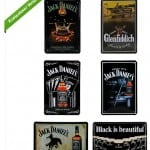 Blechschild Jack Daniels, Retro Schild, Deko, Whisky Schild, Glen Fiddich