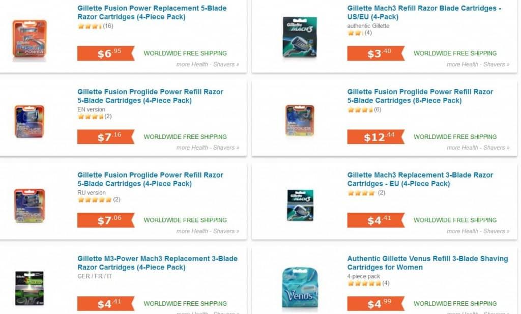 Gillette, bester Preis, China, günstig Gillette kaufen, bester Preis, Import
