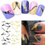 Nail Art Design, Reißverschluss trafer Sticker, Fingernägel, China, bester Preis