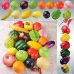 Deko Gemüse, Früchte Deko, künstliches Gemüse Obst, China, Fälschung, falsche Äpfel, Dekoration, Kunststoff Obst Gemüse