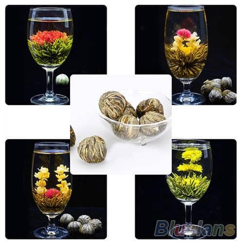 Erblühtee, bester Preis Tee, Blütentee, Tee blüht in der Kanne, Geschenk, Geschenkidee, Sonderangebot sparen, Tee aus China