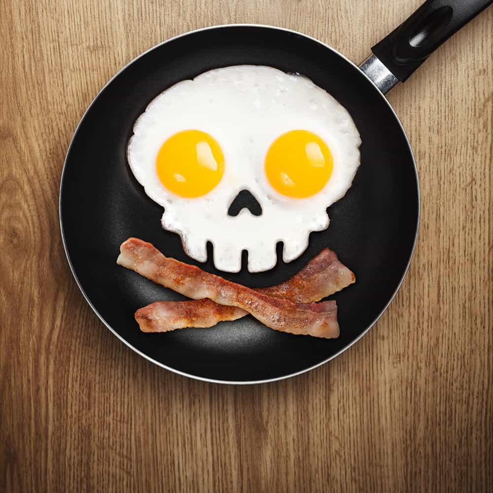 Totenkopf Ei Form, Silikon Form Ei, Totenschädel, Bacon, Gadgets, Frühstück Ei Eier Form, Geschenkidee, Pirat