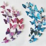 Wandsticker, Wall Sticker, 3D Schmetterling, Schmetterlinge, Wandtattoo, Gadgets, Gadget, Deko Dekoration, bester Preis, China Gadgets