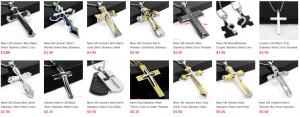 Kreuz Schmuck, Edelstahl, Schmuck für Männer, günstig Schmuck, China, Stahl Kreuz Anhänger