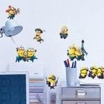 Minions Wall Sticker, bester Preis, Wand Aufkleber, Wand Tattoo, Gadgets aus China, mega günstig, Gadgetwelt, Angebot, Kinderzimmer