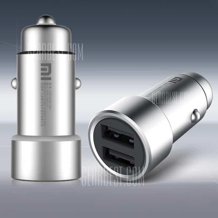 Xiaomi USB Schlelladegerät, bester Preis, 2 USB Ports Auto Xiaomi, Angebot, Gadgets, Gadget China, Metall USB Adapter