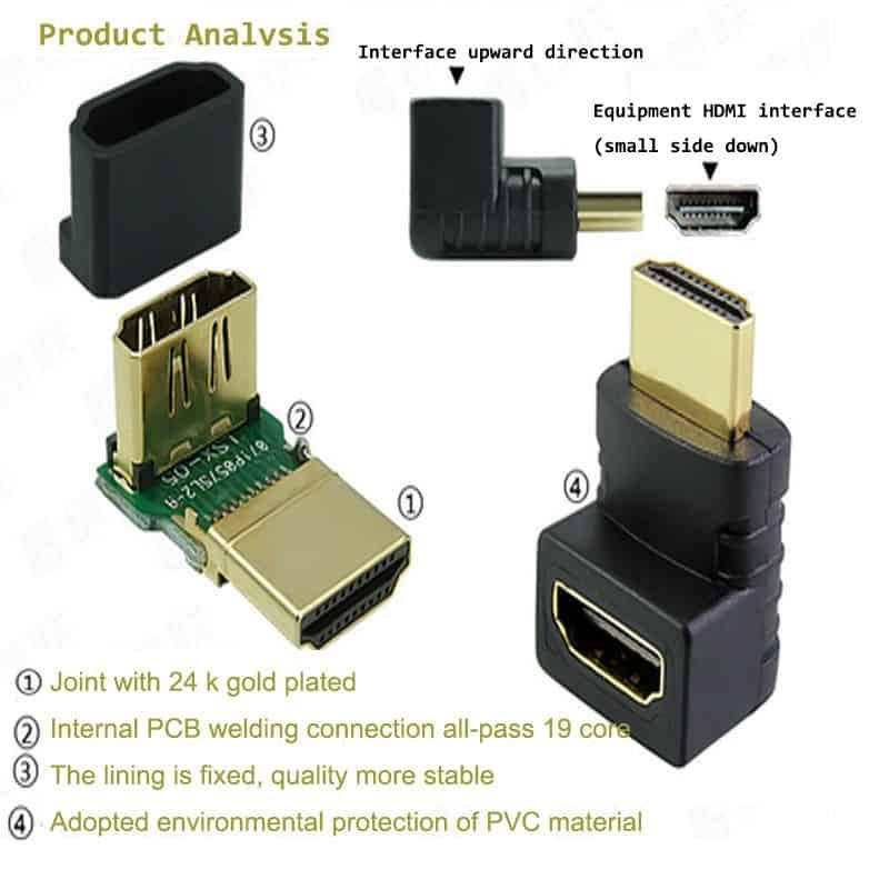 HDMI 90° Adapter, bester Preis, kostenfreie Lieferung, keine Lieferkosten, PayPal