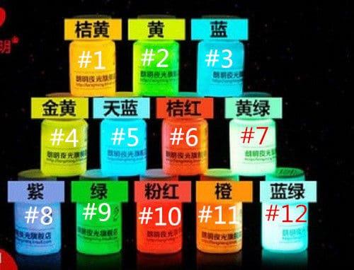 Leutpigment ,Glow in the Dark, Nachleuchtpigment, günstig Gadget Gadgets