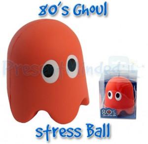pacman stressball, anti stressball 80s, retro ghost