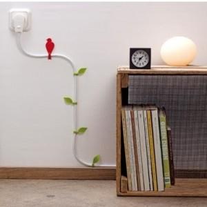 berputz kabel werden mit den kabelhalter bl ttern zur blumenranke. Black Bedroom Furniture Sets. Home Design Ideas