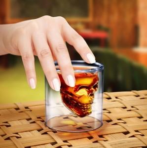 totenkopf Schnapsglas, schädelglas