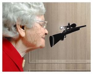 sticker türspion sniper