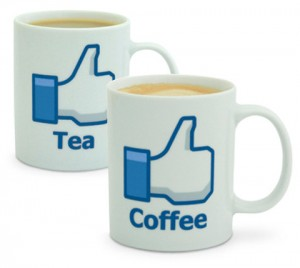 like teetasse, kaffeebecher Facebook, tasse facebook