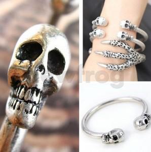 totenkopf armband, armreif gothic