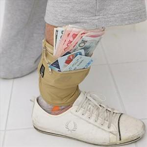 wadentasche, wadenbörse, geldbeutel