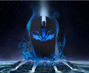 batman maus blau, blau maus batman, fledermaus maus, fleder maus, beleuchtet maus, rot beleuchtet game