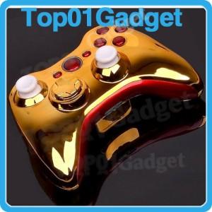 goldener xbox controller, xbox360 controller ausgefallen, besonderer controller xbox