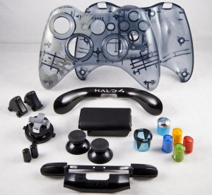 halo 4 gehäuse, halo4, transparentes gehgäuse, xbox controller, mod