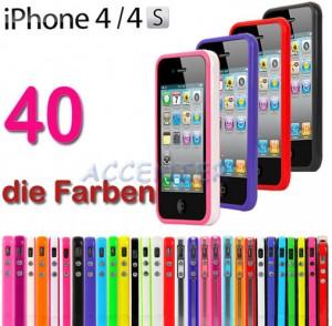 iphone 4s bicolor bumper, apple iphone 4 bumper, apple bumper, iphone bumper, farbige bumper