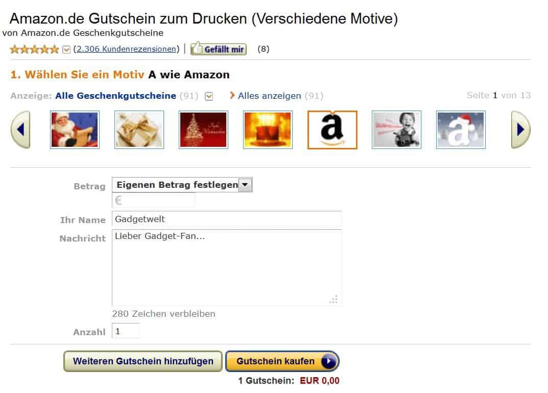 Amazon-Gutschein-Geschenk