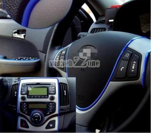 blau band auto, interieur auto, verschönerung auto