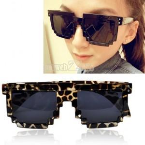 pixel sonnenbrille, leopard sonnenbrille, pixelig kult brille