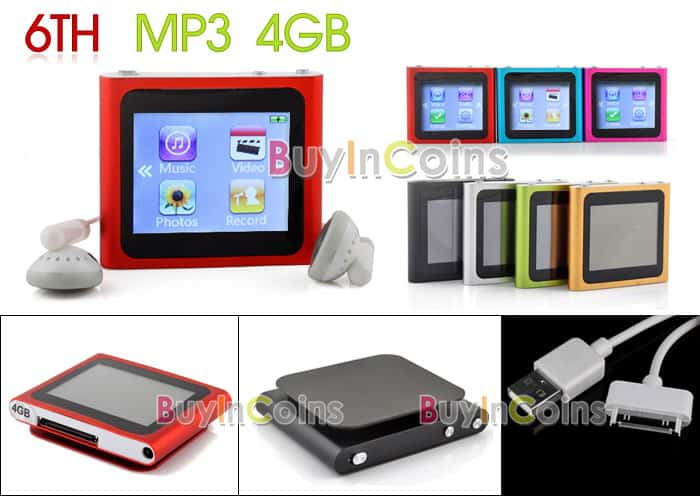 touch screen mp3 player, ipod 6th