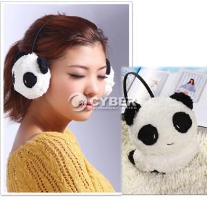 Panda ohrwärmer, panda-look ohren, panda ohr, plüsch ohrenwärmer