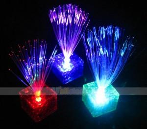 cube fiberglas led, würfel led leuchte, led fiber lampe