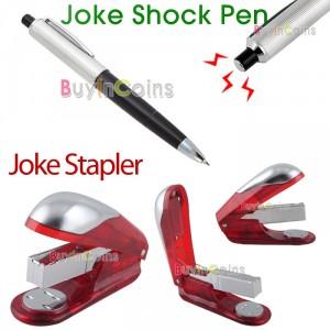 elektro schocker kugelschreiber, elektro tacker, elektrohefter, schock spaß elektro