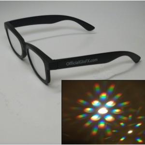 gloFX brille, prismen augen, licht prisma brille