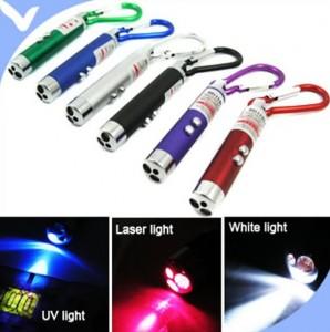 laser pointer 3in1, led laser uv, karabiner laser ucv, uv lampe