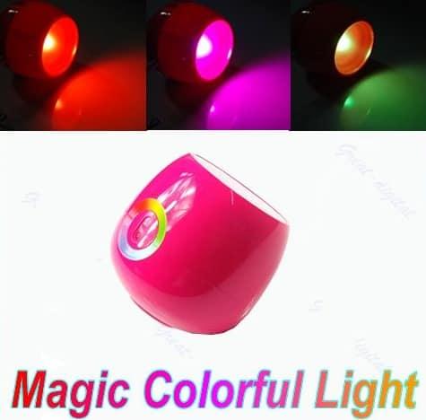 ambiente beleuchtung zum top preis led leuchte mit 64 fach farbwechsel und touch ring nur 4 39. Black Bedroom Furniture Sets. Home Design Ideas