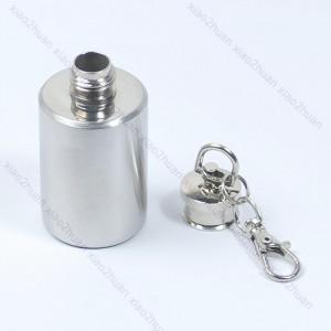 mini flachmann, medizin flasche, schlüsselbund edelstahl