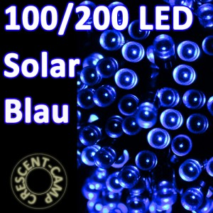 solar lichterkette blau, solarenergie led, led kette solarleuchte
