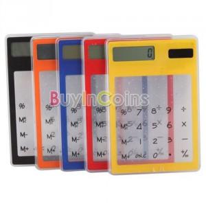 transparent taschenrechner, durchsichtig rechner, acryl taschenrechner