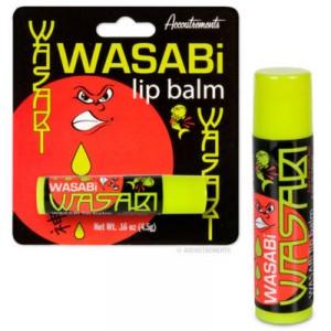 wasabi lippenbalsam, wasabi geschmach, sushi essen