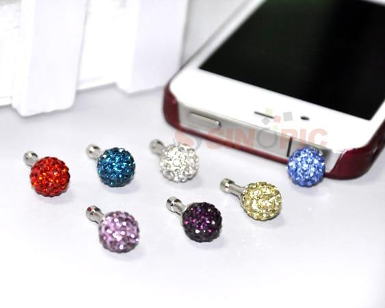 Kristall Staubschutz 3,5 mm Stecker iPhone HTC Samsung S2 S3 günstig