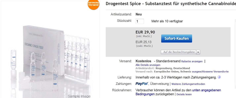 Spice Test Cannabinoide Schnelltest synthetische Cannabinoide