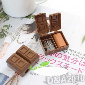 anspitzer schokolade radiergummi