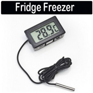 lcd digital thermometer mit externen temperatur sensor z b. Black Bedroom Furniture Sets. Home Design Ideas