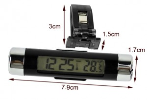 lcd innenthermometer auto, kleines thermometer auto, beleuchtet thermometer auto