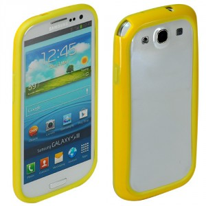 samsung galaxy s3 bumper, gelb s3 schutz, cover s3, gelb bumper s3