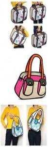 3D Tasche Handtasche Comic Style Gadget Gadgets China